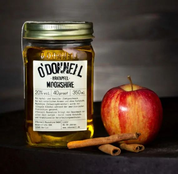 ODonnell Moonshine -Bratapfel- 350 ml, 20%vol. Likör