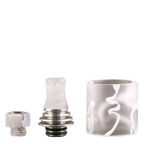 Vapefly -Brunhilde- MTL RTA Drip Tip Set, resin-weiss