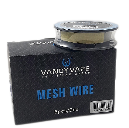 VV Mesh Wire -SS316L, 5ft 0.37 Ohm/ft, 300mesh