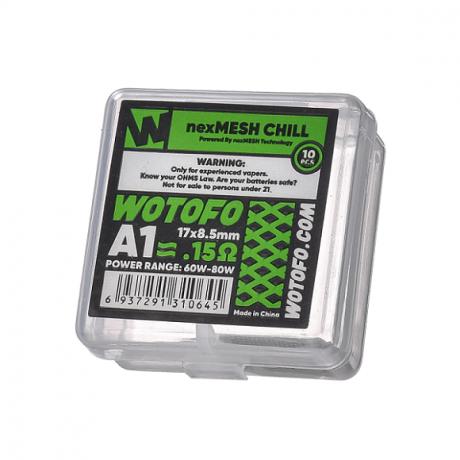 Wotofo -Profile RDA nex Drahtgeflecht Chill A1 0.15 ohm, 10-er Pack