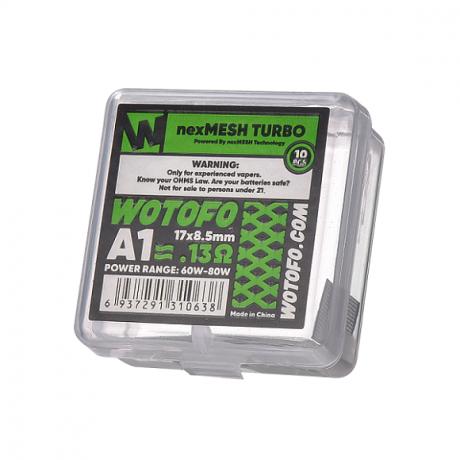 Wotofo -Profile RDA nex Drahtgeflecht Turbo A1 0.13 ohm, 10-er Pack
