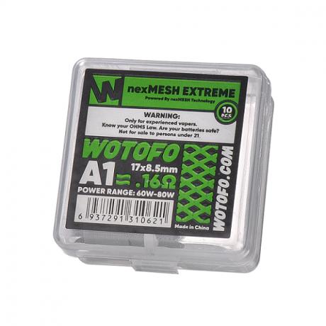 Wotofo -Profile RDA nex Drahtgeflecht Extreme A1 0.16 ohm, 10-er Pack