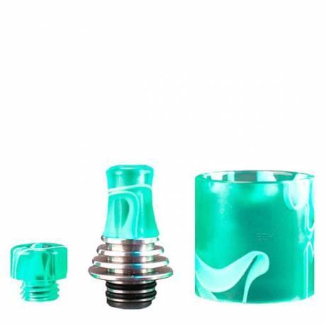 Vapefly -Brunhilde- MTL RTA Drip Tip Set, resin-grün