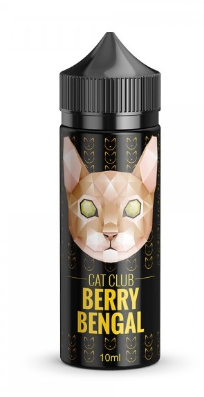 Cat Club Aroma -Berry Bengal, 10ml in einer 120ml PET-Flasche -NEU