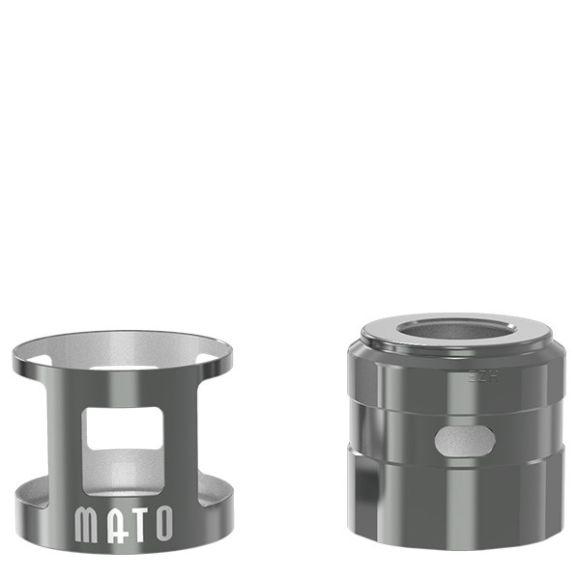 VandyVape -MATO RDTA Tankshield und Topcap, gunmetall, -NEU