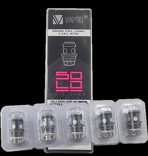 Vaptio Solo II, VOX + P1 Verdampferköpfe 0,25 Ohm -5er Pack