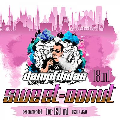 Dampfdidas -Sweet Donut Aroma 18ml, in einer 120ml PET-Flasche -NEU