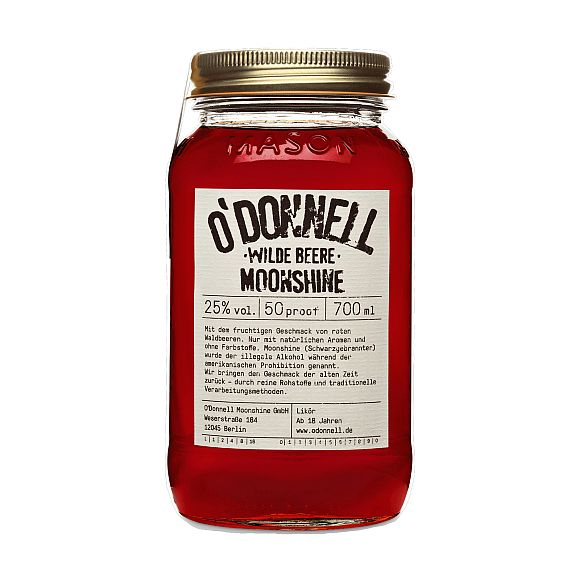 ODonnell Moonshine -Wilde Beere- 700 ml, 25%vol. Likör