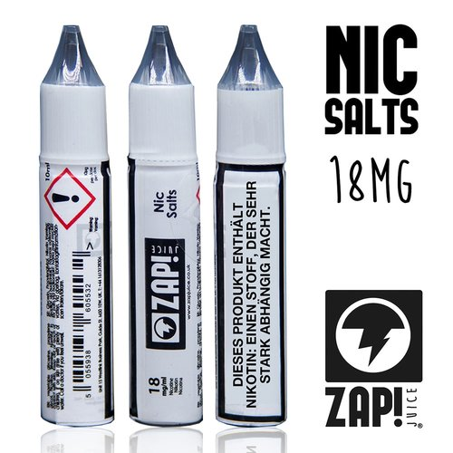 ZAP! Juice- NIC SALTS Shots- 18mg/ml, 10ml -NEU